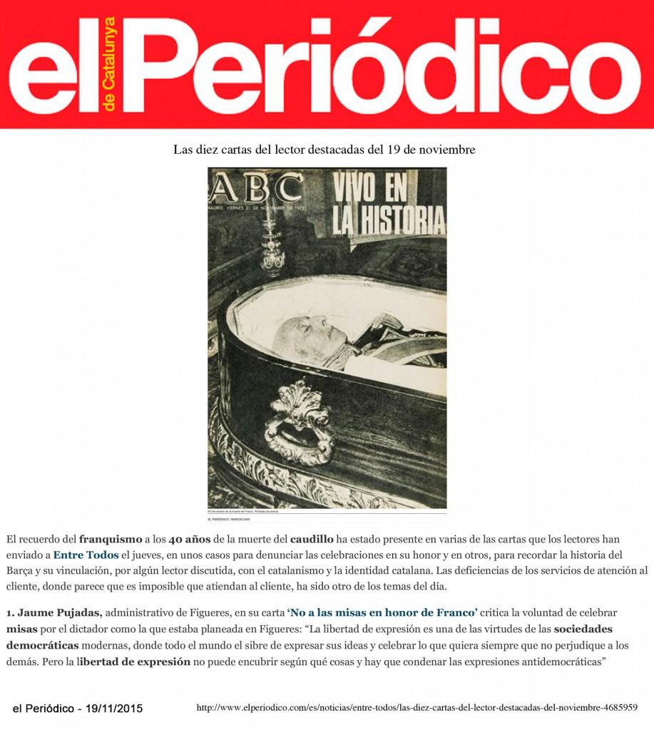 15-11-19 - Periodico - JP - Franco (Destacades) - F