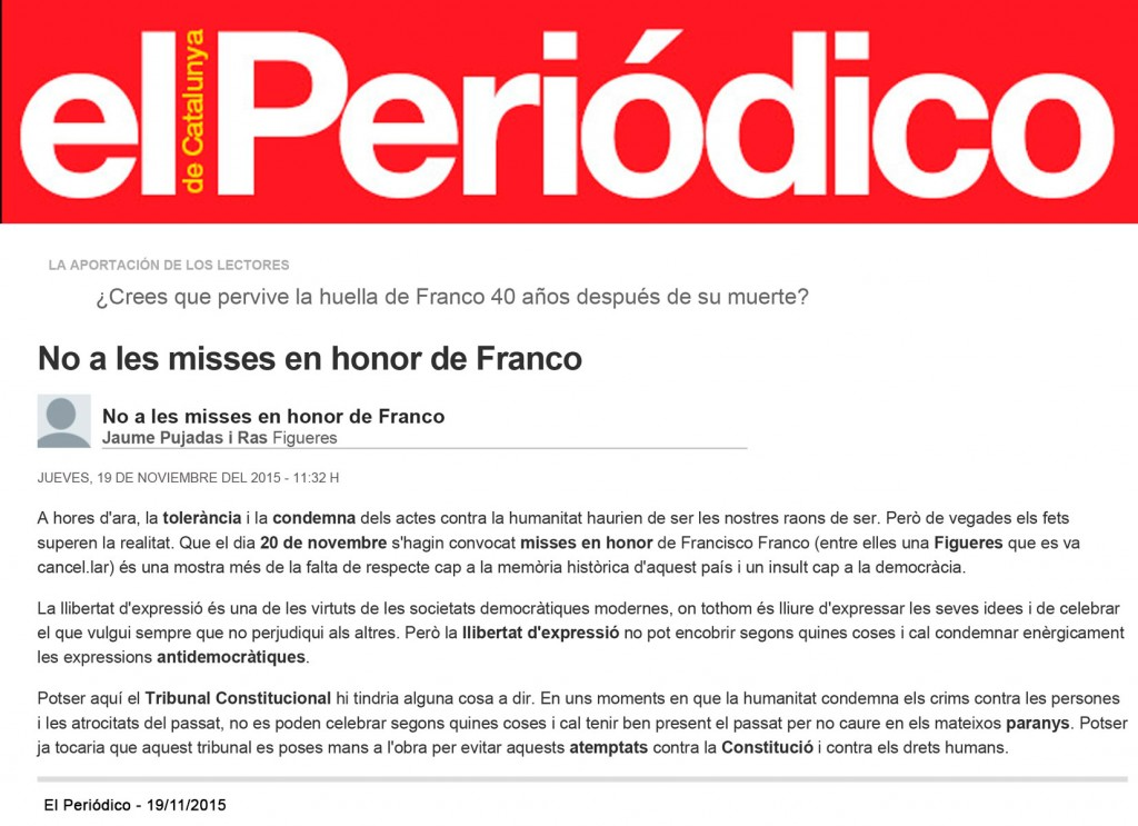 15-11-19 - Periodico - JP - No misses Franco - F