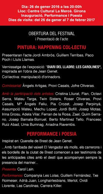 Pepe Sales 2017 - Programa inauguració